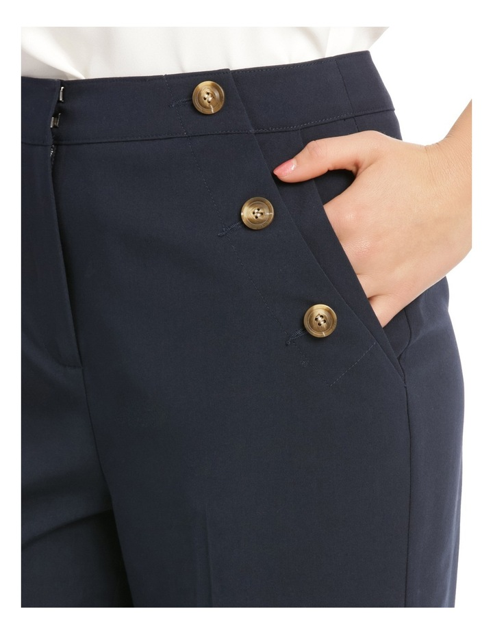 Button Detail High Waisted Crop Pant image 4