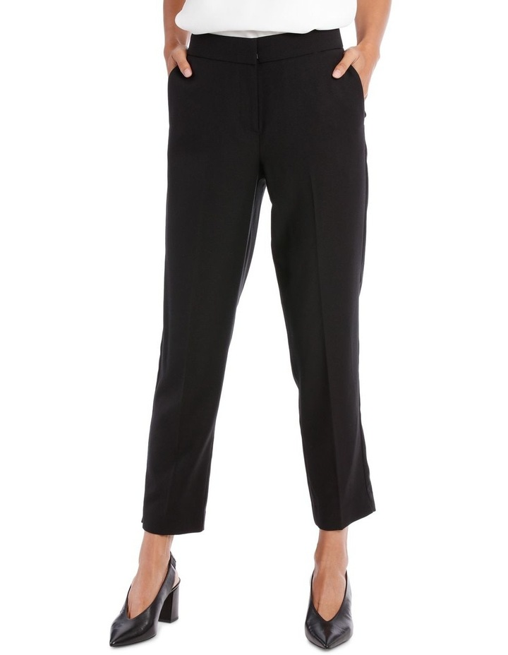 TEXTURED STRAIGHT SUIT PANT image 1