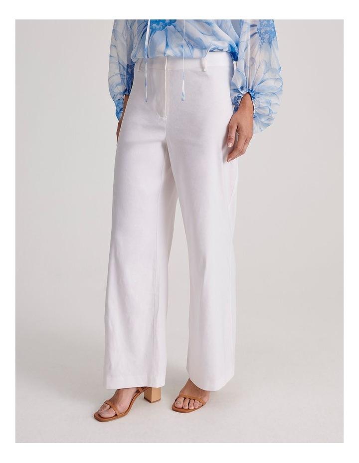 Linen Blend Wide Leg Pant image 4