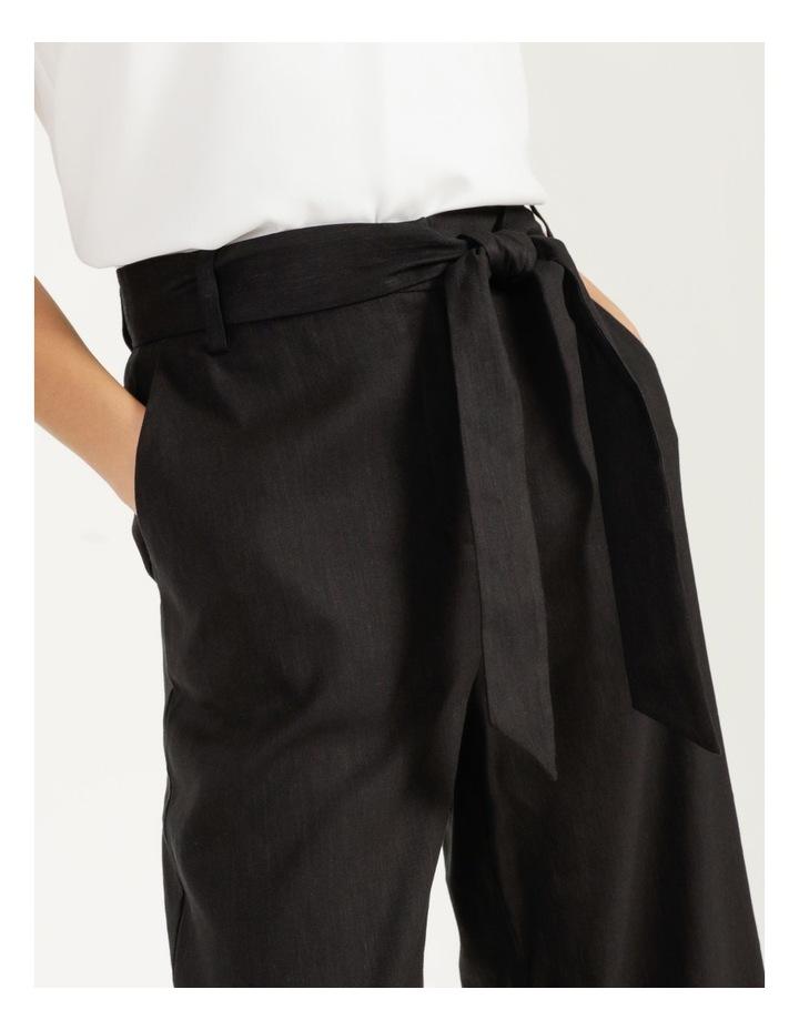 Self Tie Wide Leg Linen Pant image 2
