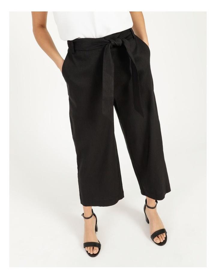 Self Tie Wide Leg Linen Pant image 3