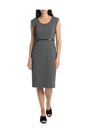 Basque Petites - Double Tuck Ponte Work Dress