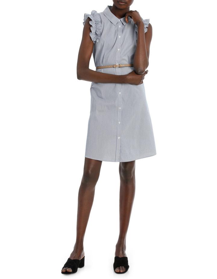 Fine Thin Stripe Shirt Dress image 1