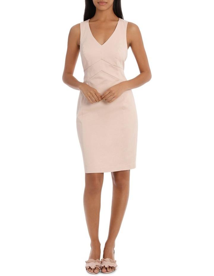Seam Detail Cotton Sateen Dress image 1