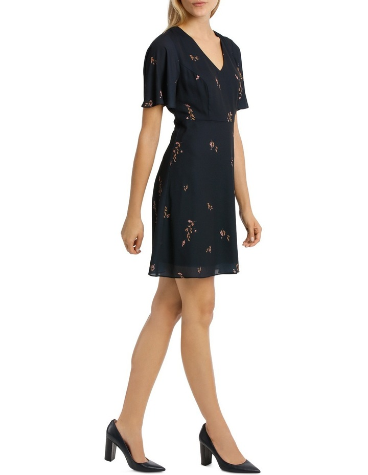 Cluster Floral Print Fit And Flare Dress image 2