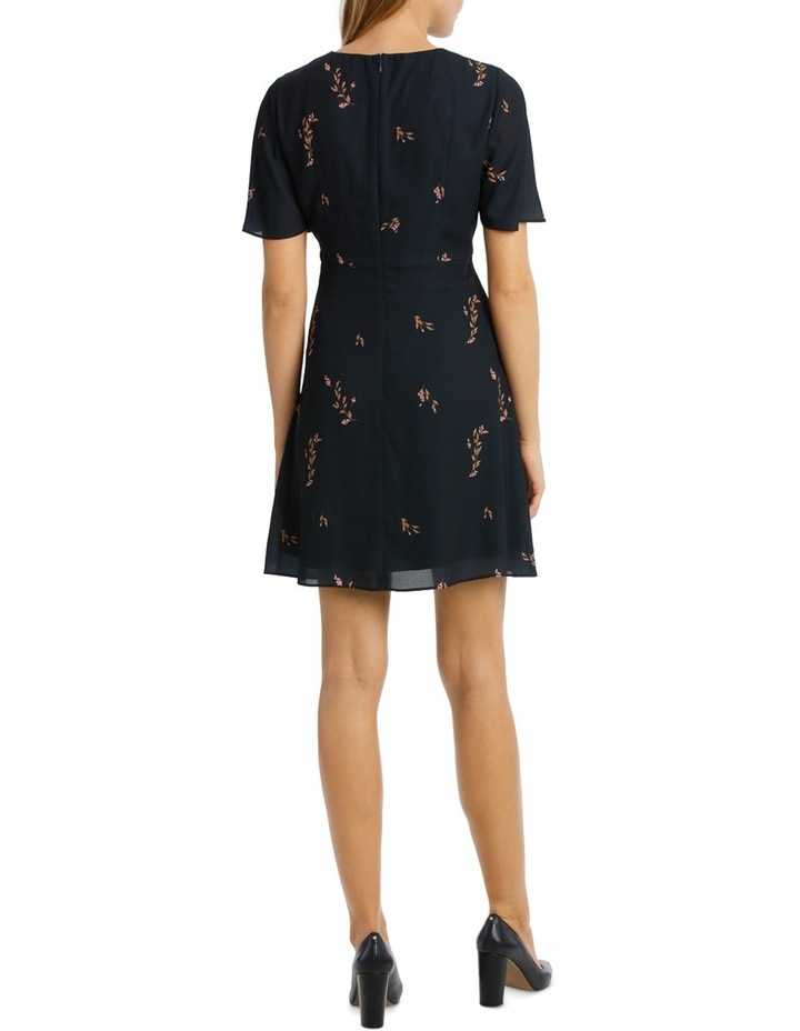 Cluster Floral Print Fit And Flare Dress image 3
