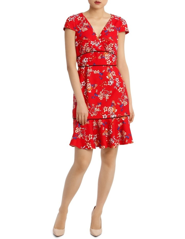 Awakening Floral Panel Dtl Short Sleeve Dress image 1
