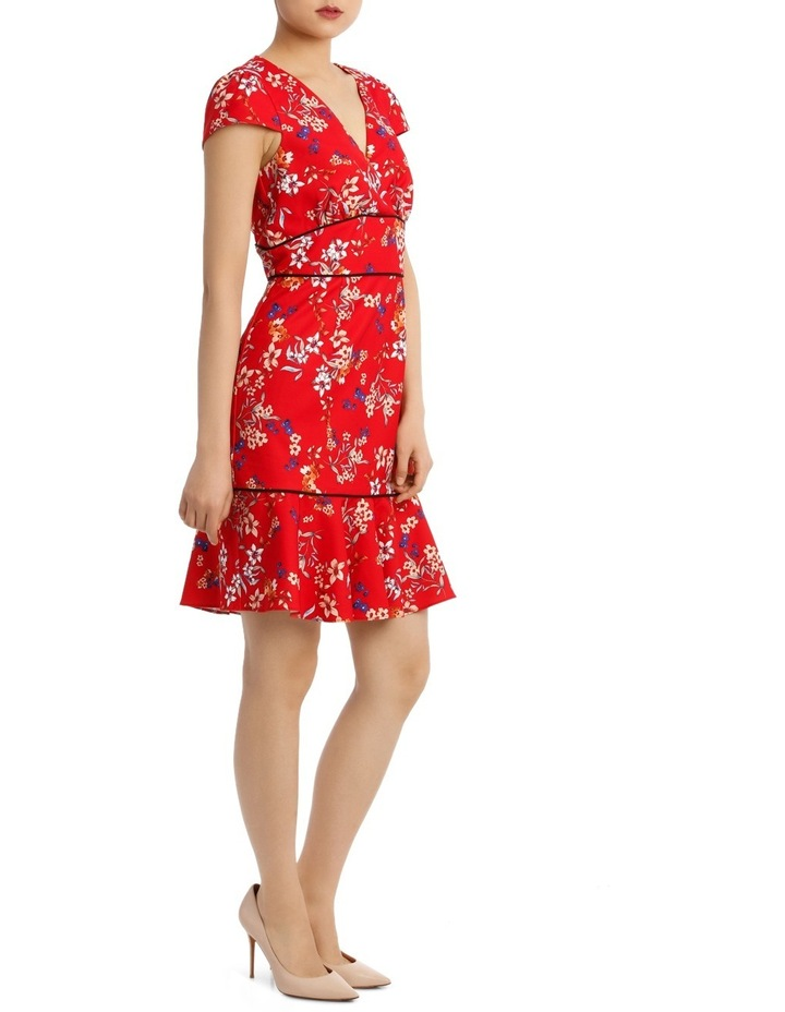 Awakening Floral Panel Dtl Short Sleeve Dress image 2