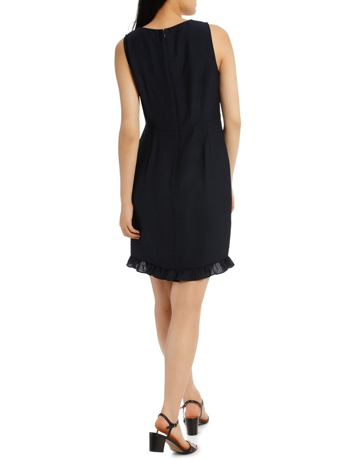 Solid Frill Front Linen Dress image 3