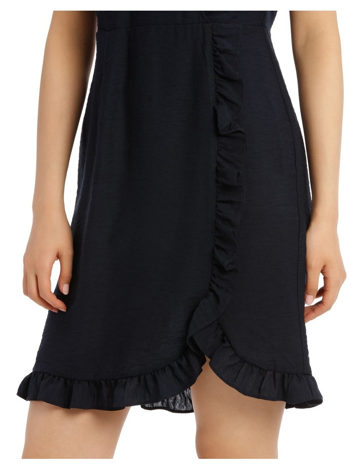Solid Frill Front Linen Dress image 4