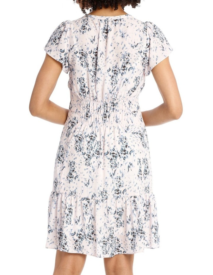 CHECK ANIMAL ROUCH SHOULDER DRESS image 2