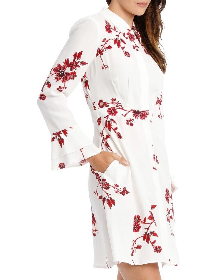 FLORAL SHIRT DRESS image 2