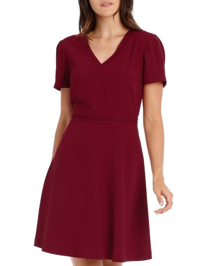 Cap Sleeve V Neck Fit & Flare Dress image 1
