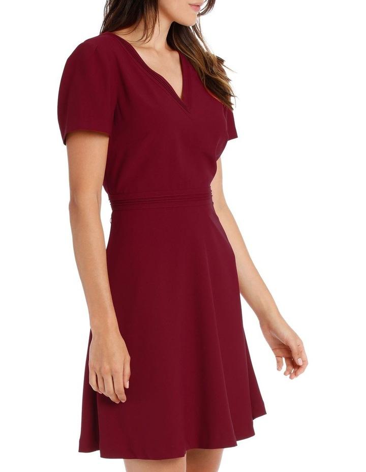 CAP SLV V NECK FIT & FLARE DRESS image 2