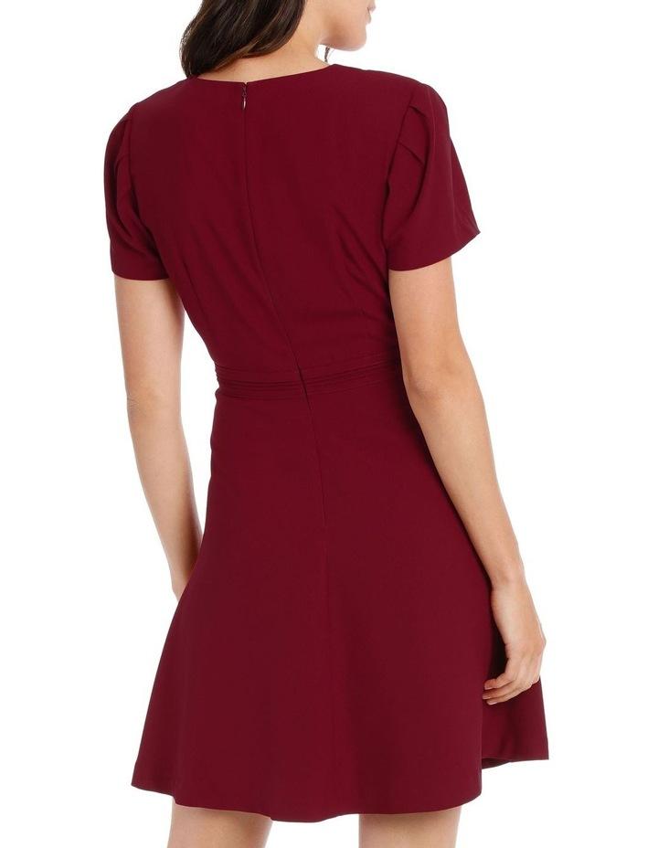 Cap Sleeve V Neck Fit & Flare Dress image 3