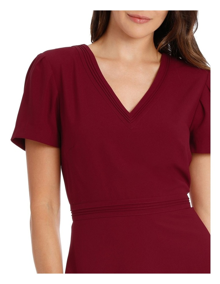 CAP SLV V NECK FIT & FLARE DRESS image 4