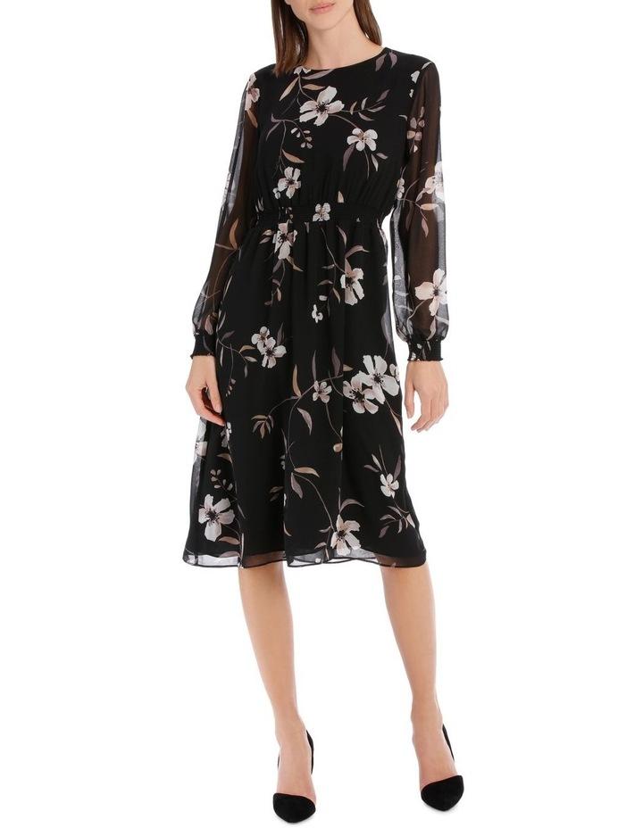 Floral Printed Midi Dress image 1
