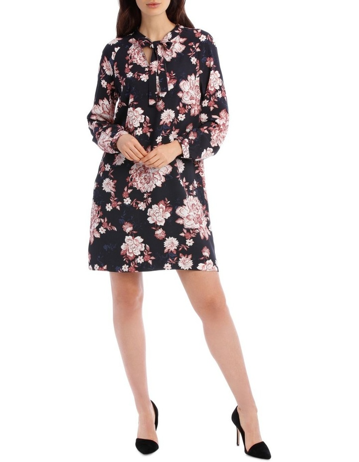 Printed Floral Shift Dress image 1