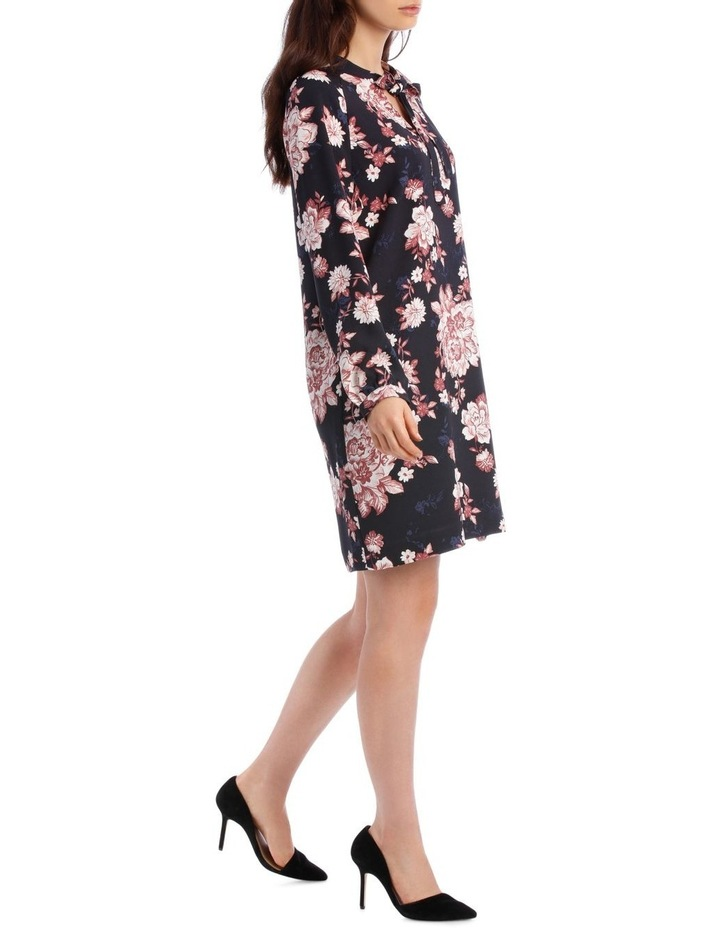 Printed Floral Shift Dress image 2