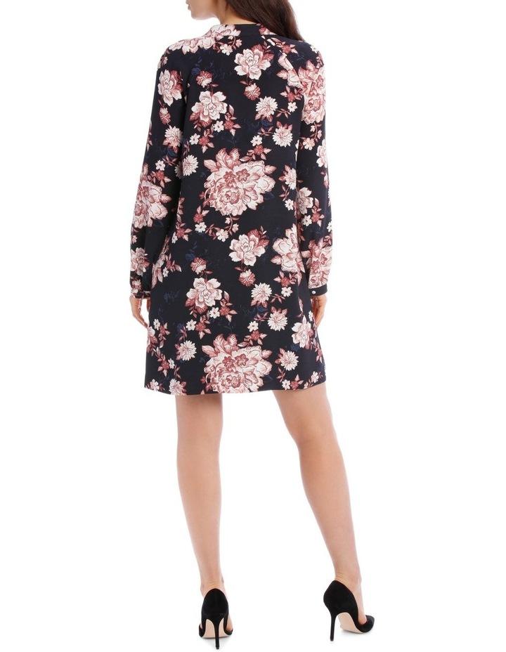 Printed Floral Shift Dress image 3