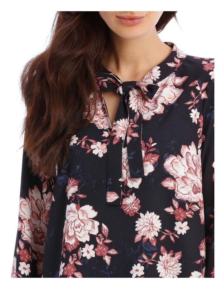 Printed Floral Shift Dress image 4