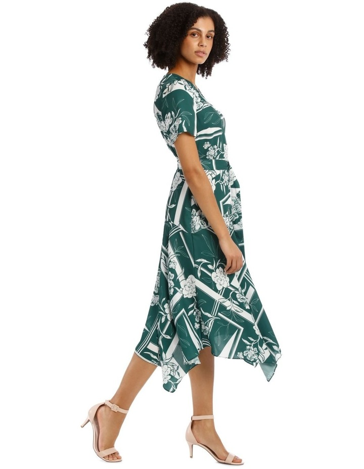 Belted Asym Printed Dress image 2