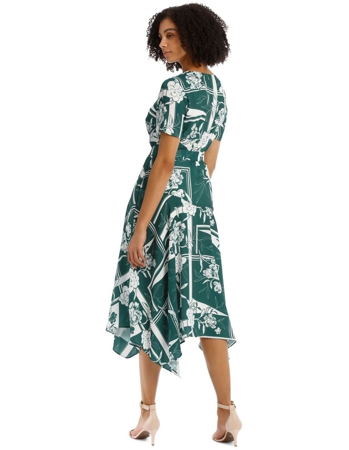 Belted Asym Printed Dress image 3