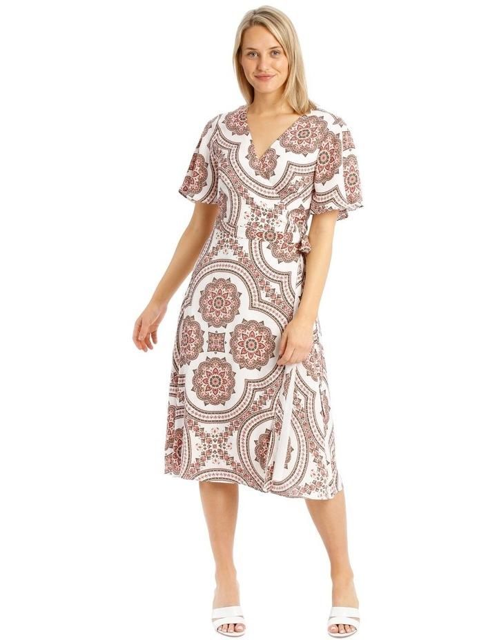 Paisley Print Kimono Sleeve Midi Dress image 1