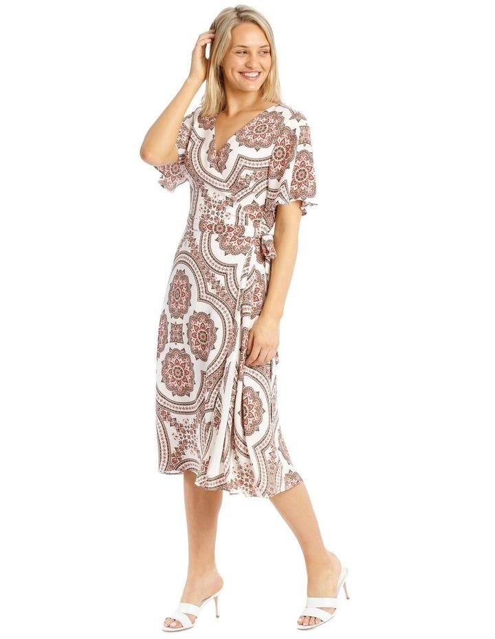 Paisley Print Kimono Sleeve Midi Dress image 2