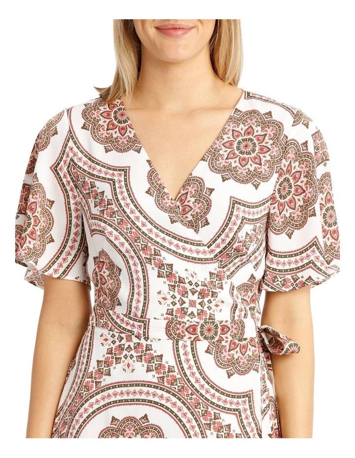 Paisley Print Kimono Sleeve Midi Dress image 4