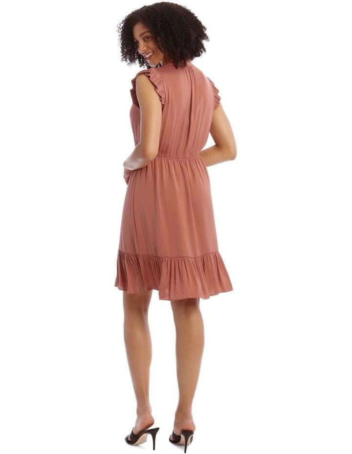Bruised Poly Midi Dress image 3