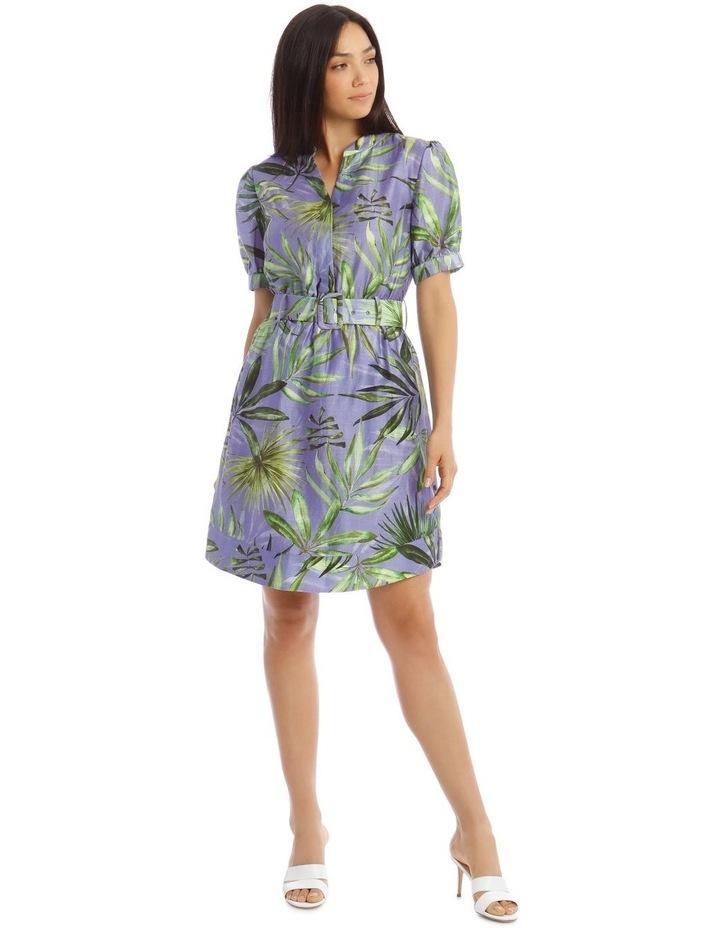 Printed Linen Shirt Dress image 1