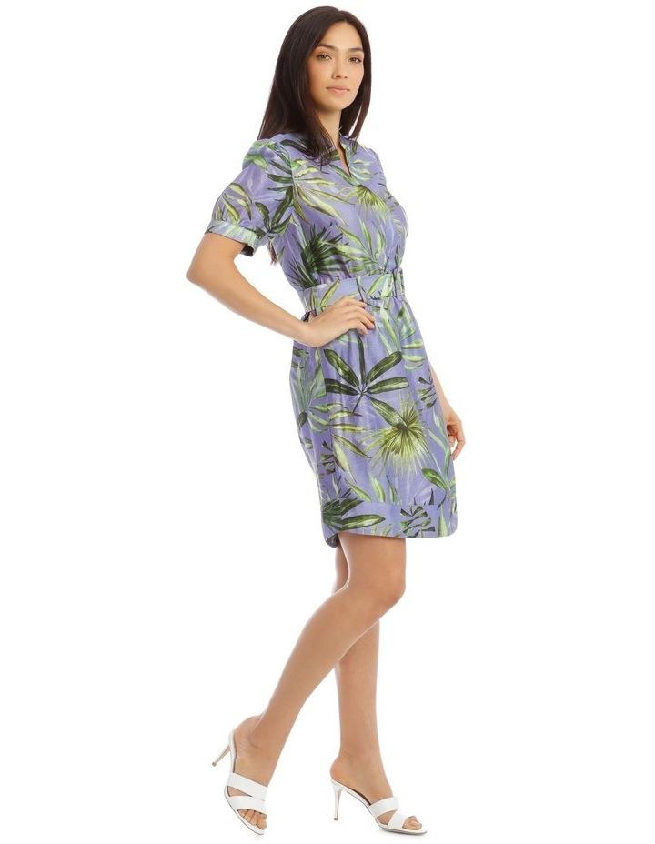 Printed Linen Shirt Dress image 2