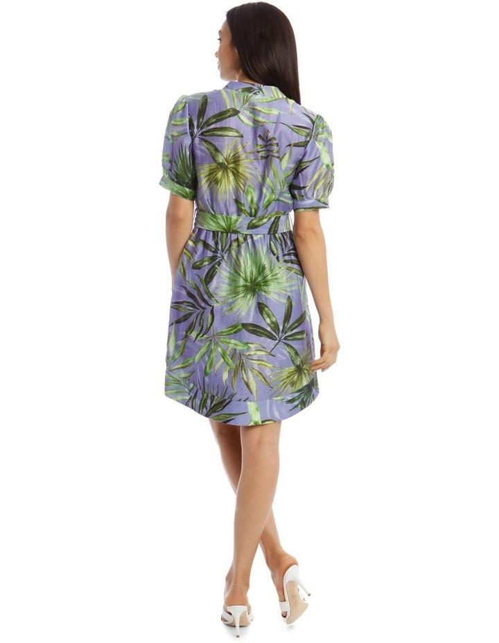 Printed Linen Shirt Dress image 3