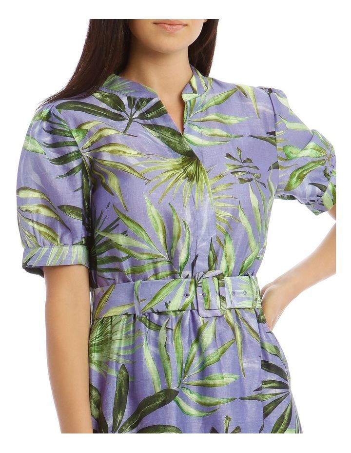 Printed Linen Shirt Dress image 4