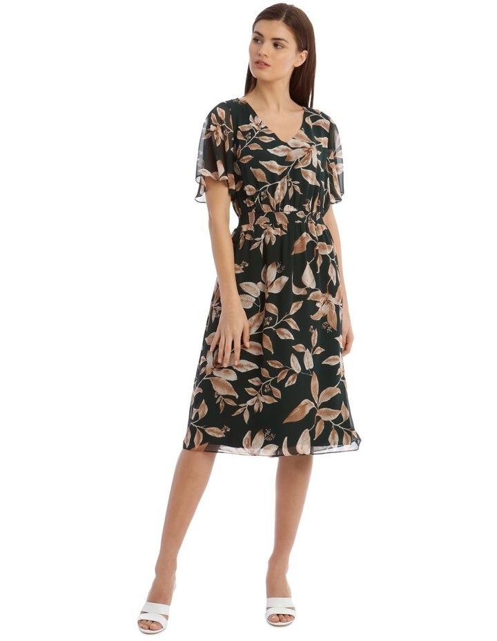 Shirred Waisted Printed Dress image 1