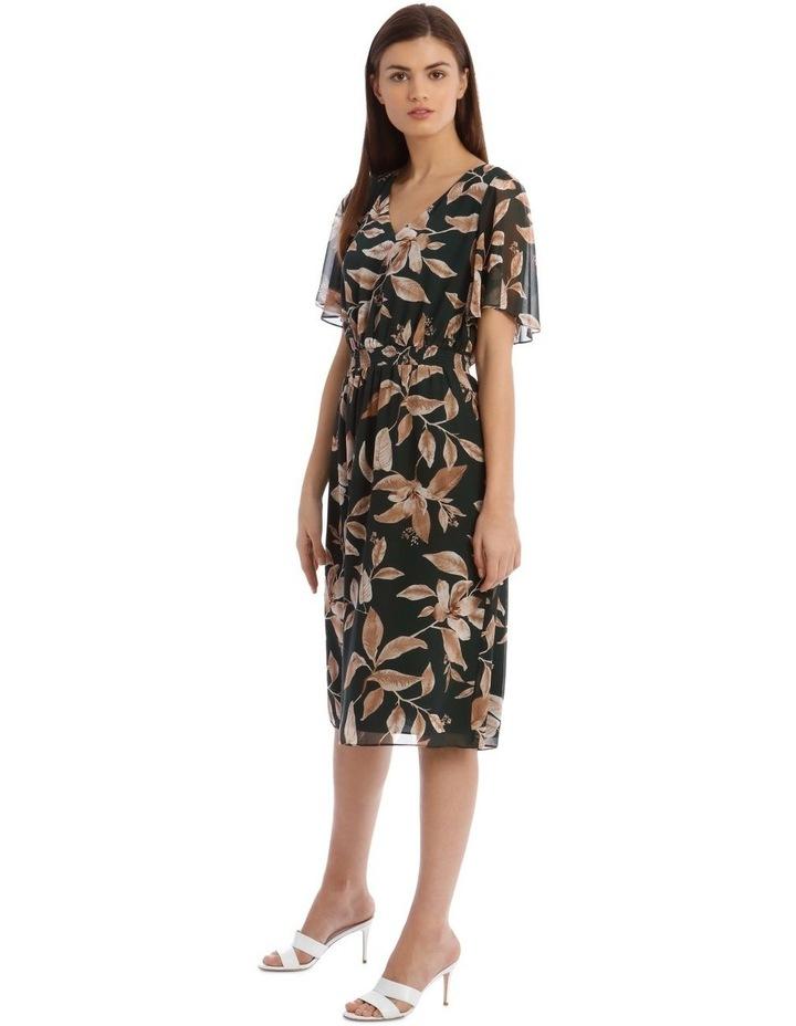 Shirred Waisted Printed Dress image 2
