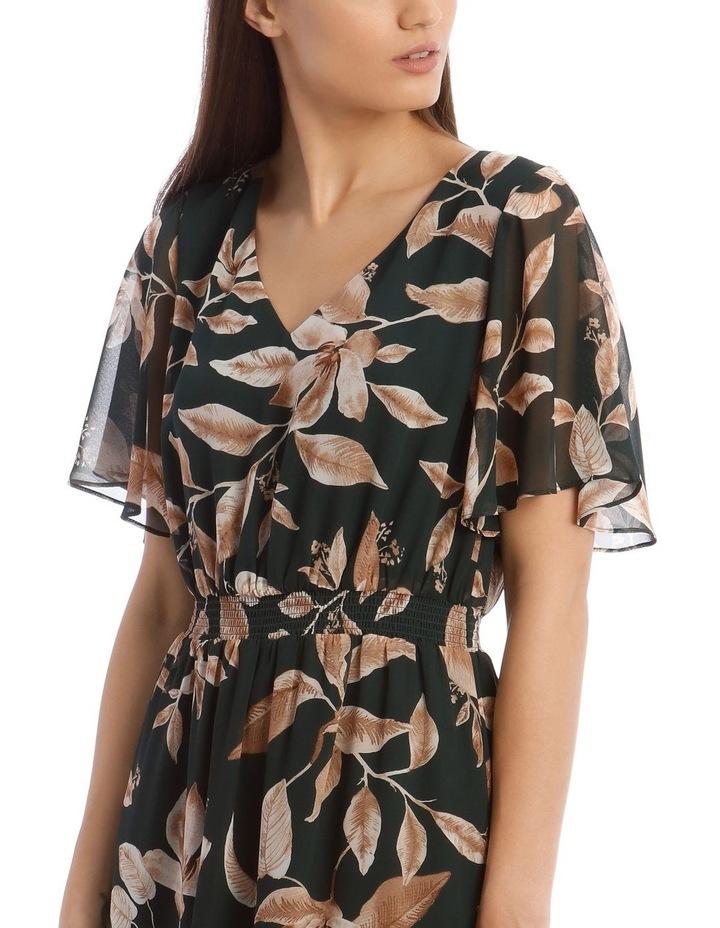 Shirred Waisted Printed Dress image 4