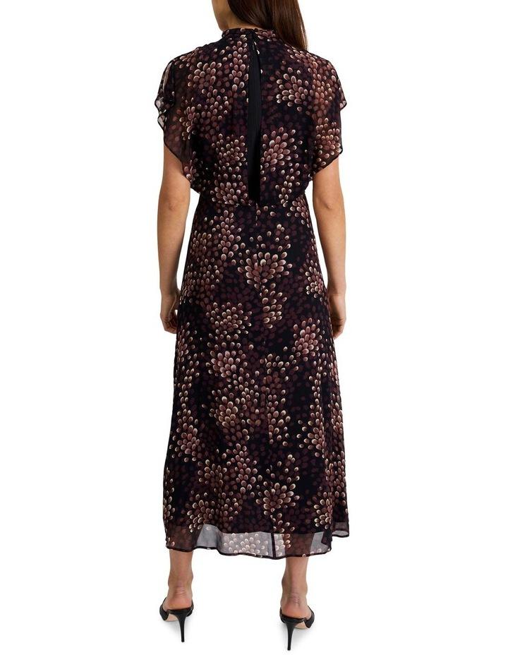 High-Neck Flutter Sleeve Dress image 3