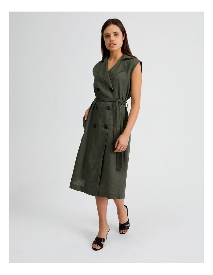 Organic Linen Shirt Dress image 1