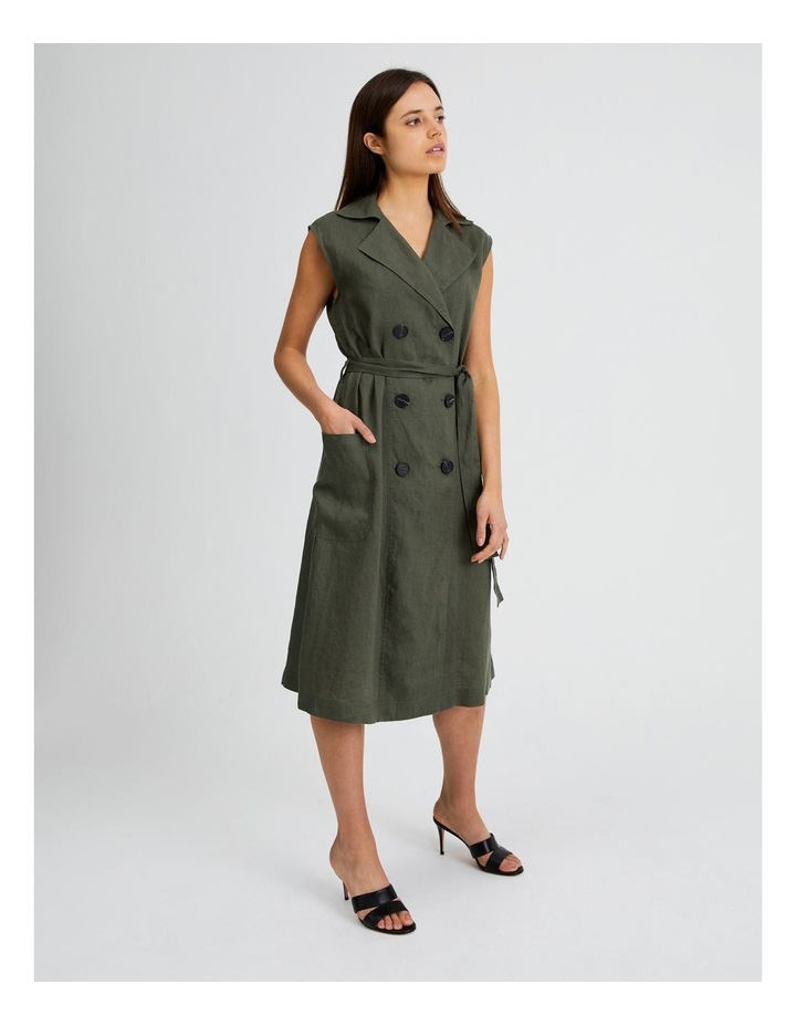 Organic Linen Shirt Dress image 2