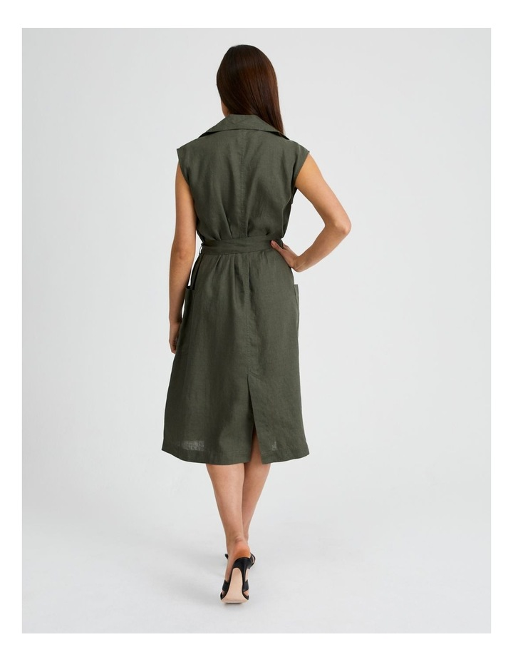Organic Linen Shirt Dress image 3