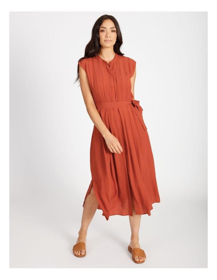 Pleated Midi Dress image 1