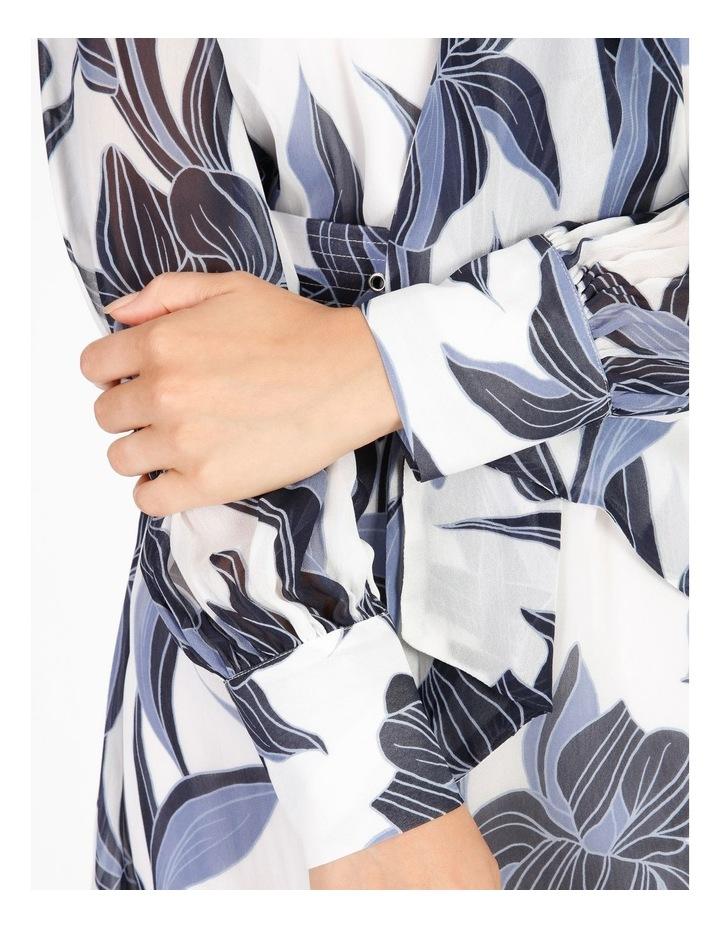 Tie Neck Puff Sleeve Dress image 5