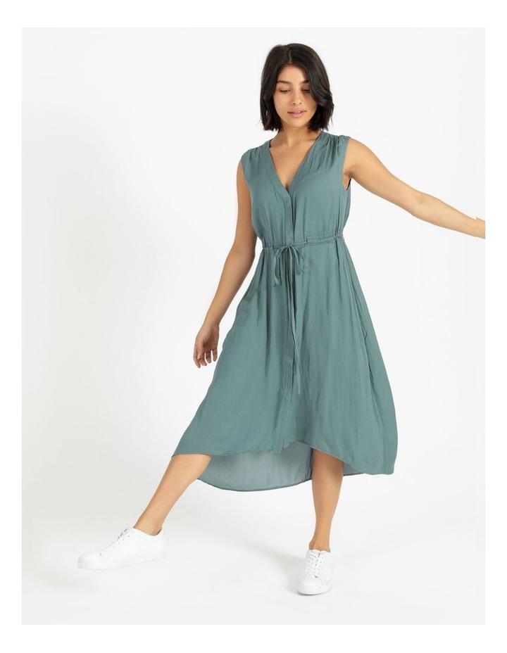 Self Tie Button Through Dress image 1