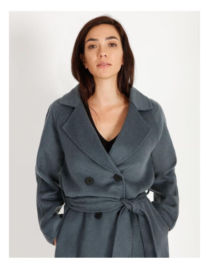 Longline Wrap Self Tie Coat image 2