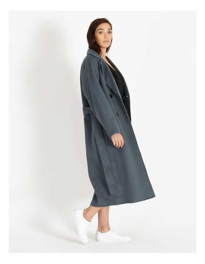 Longline Wrap Self Tie Coat image 3