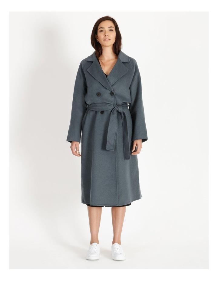 Longline Wrap Self Tie Coat image 5