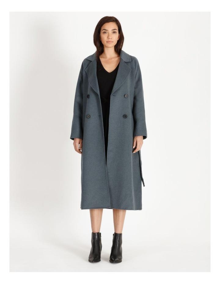 Longline Wrap Self Tie Coat image 6