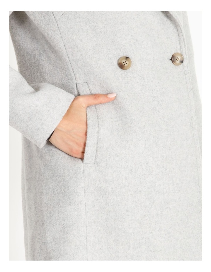 Brushed Longline Coat image 4